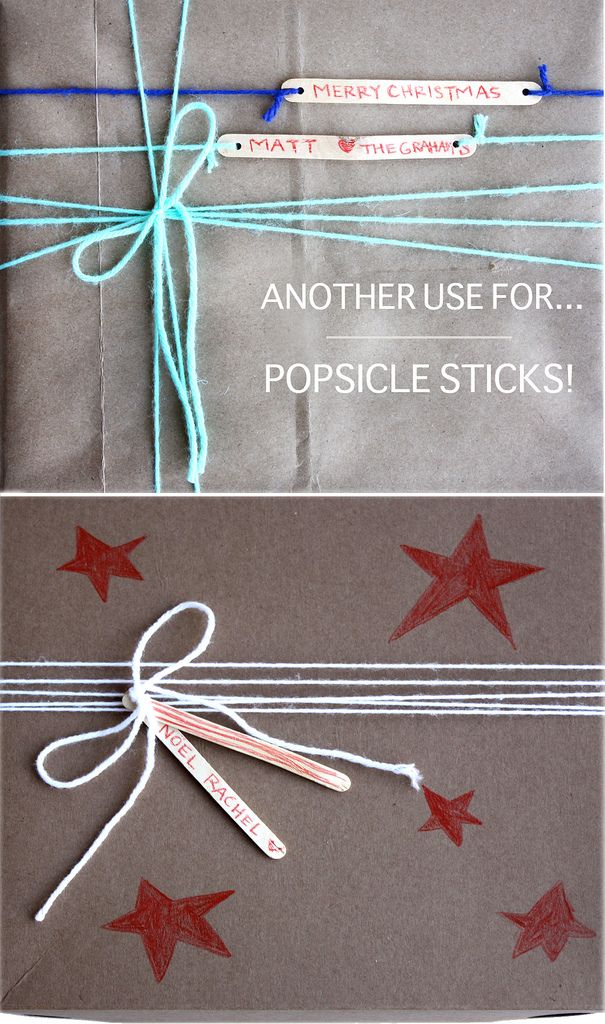 popsicle stick gift tags!