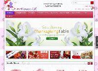 Online Flowers Gift's website