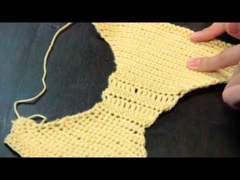 Crocheted Bras & Panty Instructions : Crochet Lessons - YouTube