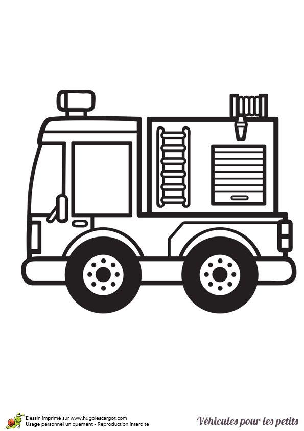 Les 25 meilleures id es de la cat gorie dessin camion de - Dessin d un camion de pompier ...