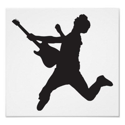 Rocker Silhouette poster | Coby | Pinterest