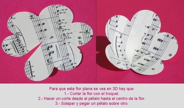 flores de papel en 3D