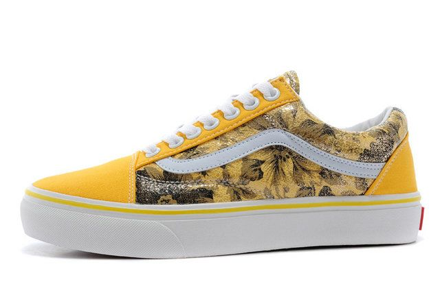 Vans Old Skool Classic ROMANTIC SEATTLE Valentines Day Yellow Off the Wall Sneakers [S14081406] - $39.99 : Vans Shop, Vans Shop in California