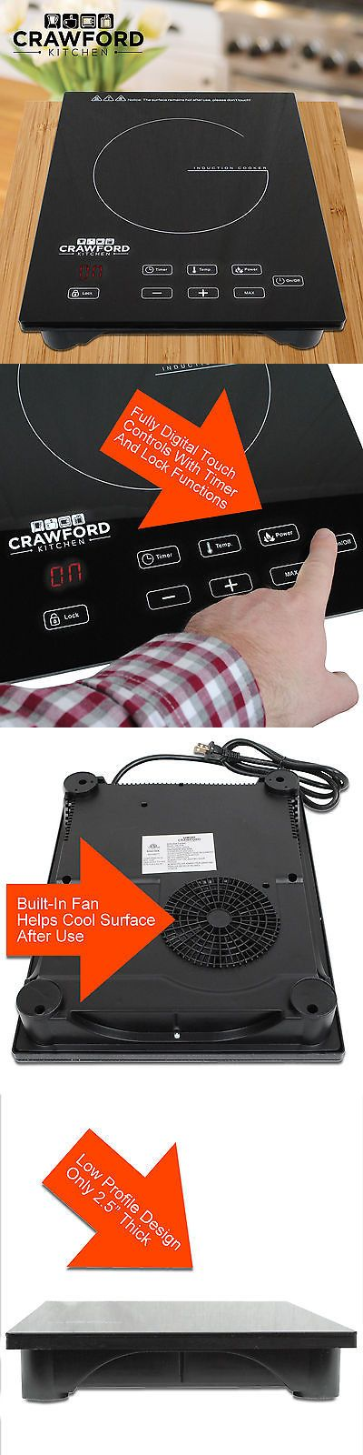 appliances: New Portable 1800W Induction Cooker Electric Cooktop Burner Countertop Home P -> BUY IT NOW ONLY: $59.95 on eBay!