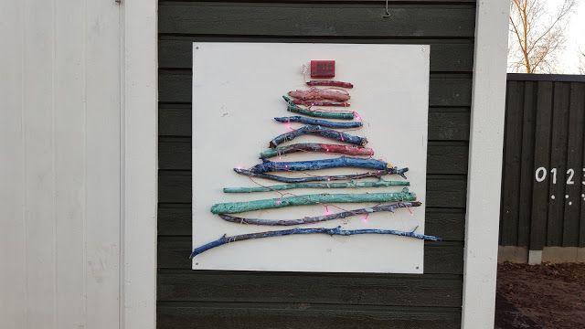 Min blogg om allt mellan himmel och jord: Julpyssel: Julgran av naturmaterial