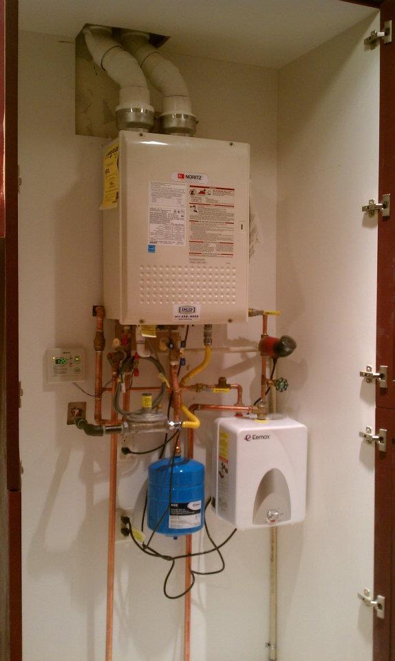 Noritz Tankless Water Heater In A Cabinet Dcdplumbing Com