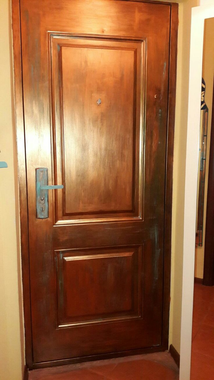 painted door with cooper finish