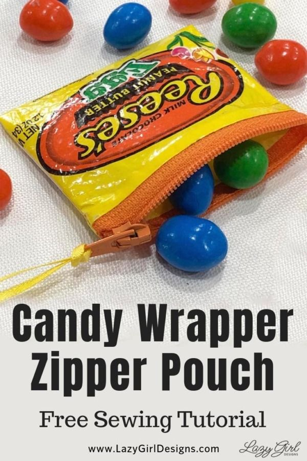 How To Make A Candy Sweet Wrapper Zipper Pouch