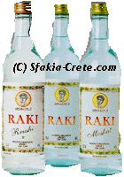 "Greek Raki  Tsipouro, a strong distilled spirit containing approx. 37% alcohol per volume and is produced from the must-residue of the wine-press. The name tsipouro is used throughout the country, except for Crete, where the same spirit with a stronger aroma is known as tsikoudia. Also the Oriental name raki is used, from which the term ""rakizio"" is derived, used to refer to the drink's distillation process, which usually turns into a huge celebration among family, friends and neighbours."