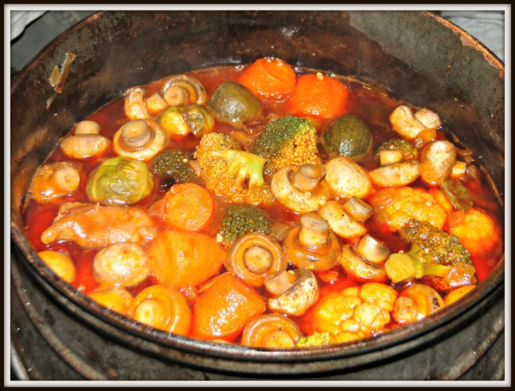 "A Typical South African ""Poiki"" (potjie)dish. Yum!"