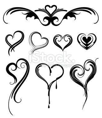 Simple heart tattoo designs tribal heart tattoo designs for Black heart outline tattoo meaning