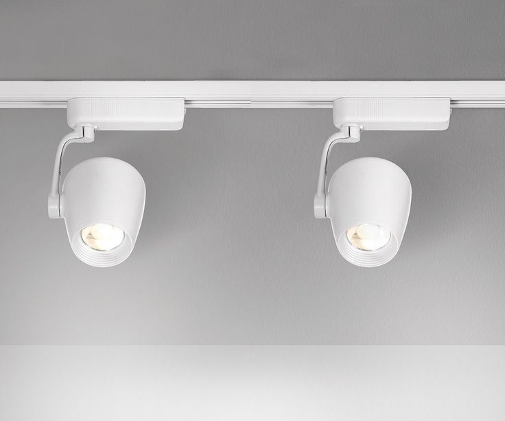 LEDlux Action 2 Light Dimmable White Cone Track Spot Kit in Cool White