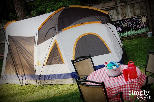 Great Backyard camping Ideas!  A Camping we will go! ~ Simply Sprout