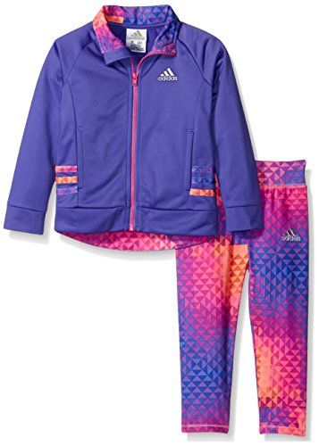 b5503085 Buy adidas Baby Girls' Zip Jacket Pant Set online | Baby girl stuff | Adidas  baby, Toddler adidas, Adidas