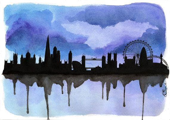 This is for a One off Original* of My London Skyline 2, Signed CBruce and Dated 2014    *Frame not included    **FREE SHIPPING with all of my Original Watercolour Skylines in Series 2    From my first series I have now added more detail into the buildings along with updating the Skyline which now includes the Shard.    This is also available in a Print in different colours, - Blue  -Turquoise  -Mint  -Lime  -Tea  -Red  -Pink  -Plum  -Aubergine  -GB Flag  -Tea GB Flag  -B&W GB Flag      1...
