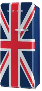 50s Style Fridge in Union Jack Left Hand Hinged eclectic refrigerators and freezers
