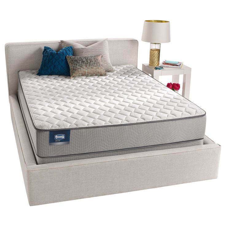 Simmons Beautysleep Kenosha Firm California King Size Mattress Set Low Profile