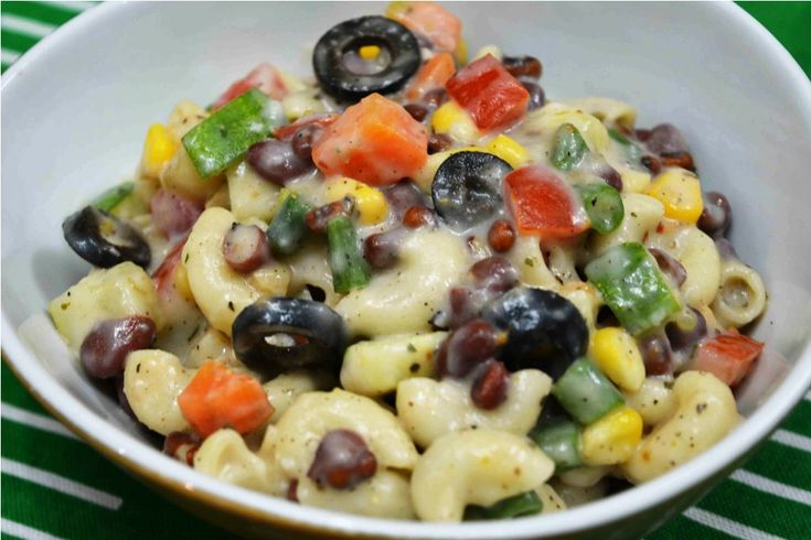 Easy Macaroni Salad With 3 Beans Eat healthy feel good :) #pastasalad #macaronisalad #veggie #whitesauce #yummy #summer #amazing Recipe at: www.annapurnaz.in