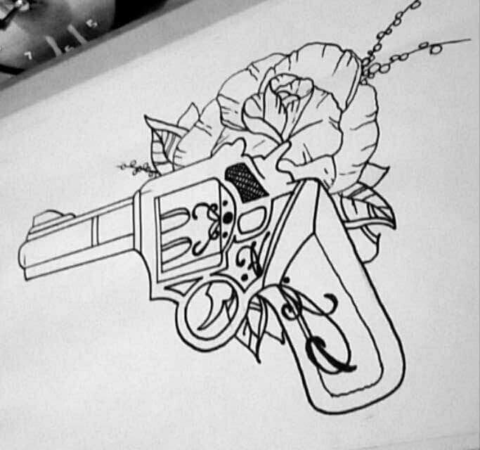 #Gun #tattoodesign
