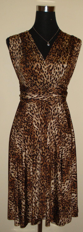 Multi Way Dress Bridesmaid Brown Black Sequin Leopard Dress Infinity Dress Convertible dress Formal Dress Party Evening Dress Ballroom Dress by stitchawayrose on Etsy