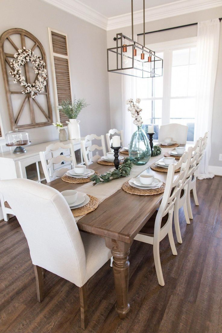 Farmhouse Spring In 2020 Farmhouse Style Dining Room Farmhouse