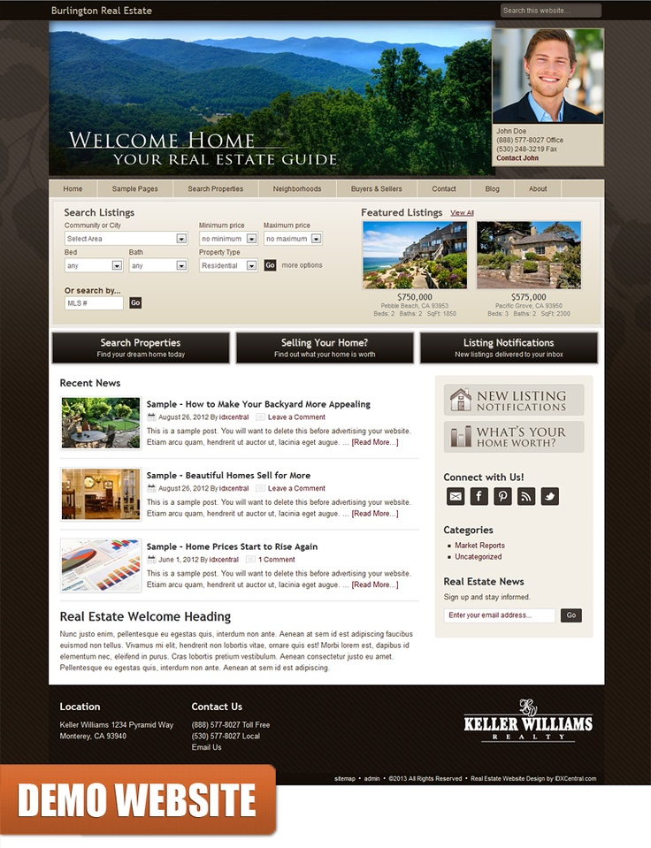 62 best Semi-Custom Websites images on Pinterest   Real estate ...
