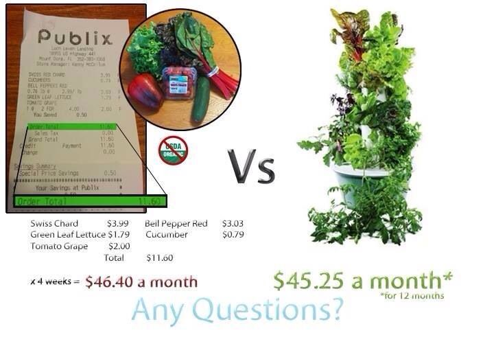 Tower Garden by Juice Plus definitely pays for itself. No dirt, no weeding, no green thumb required #www.marilyn.towergarden.com