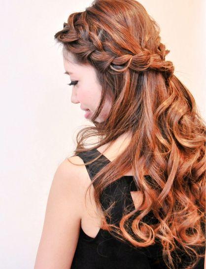 編み込みカジュアルハーフアップ♪ | 神奈川県・元町・石川町の美容室 hair coucouのヘアスタイル | Rasysa(らしさ)