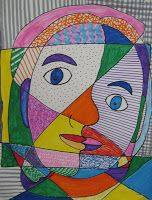 Week 4 Abstract Art- Wild 'n Crazy Picasso Portraits