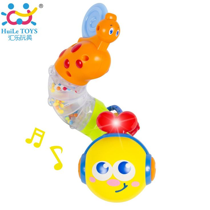 Baby Musical Twisting Worm Rattle Toys Safety Brinquedos Chocalho Early Educational Toys for Babies Huile Toys 917