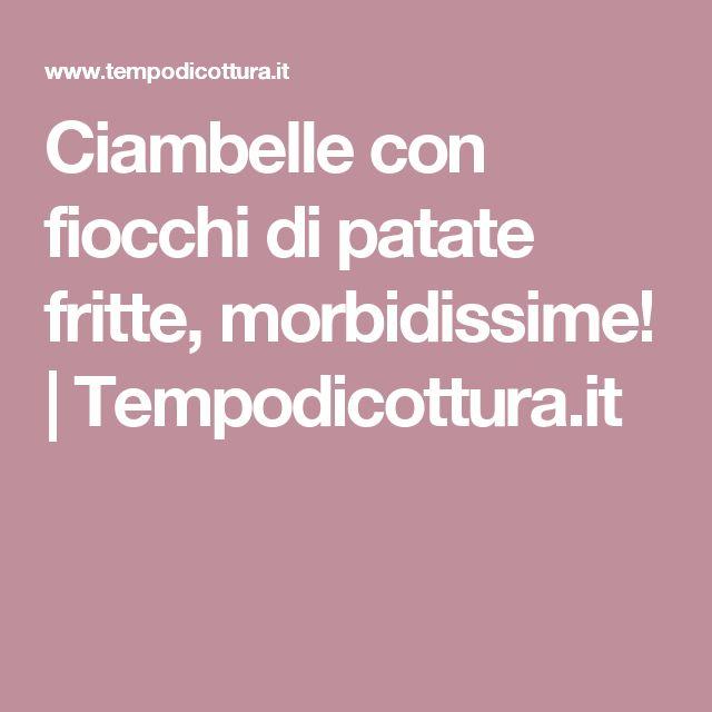 Ciambelle con fiocchi di patate fritte, morbidissime! | Tempodicottura.it