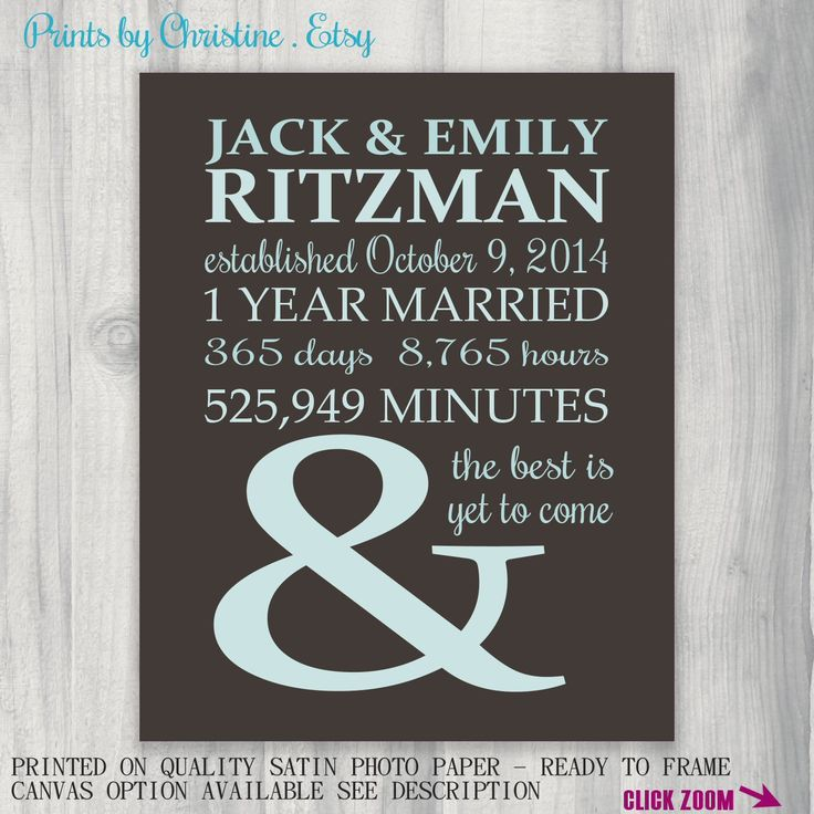 1st Anniversary Gift Personalized Gift for Husband Anniversary Gift ...