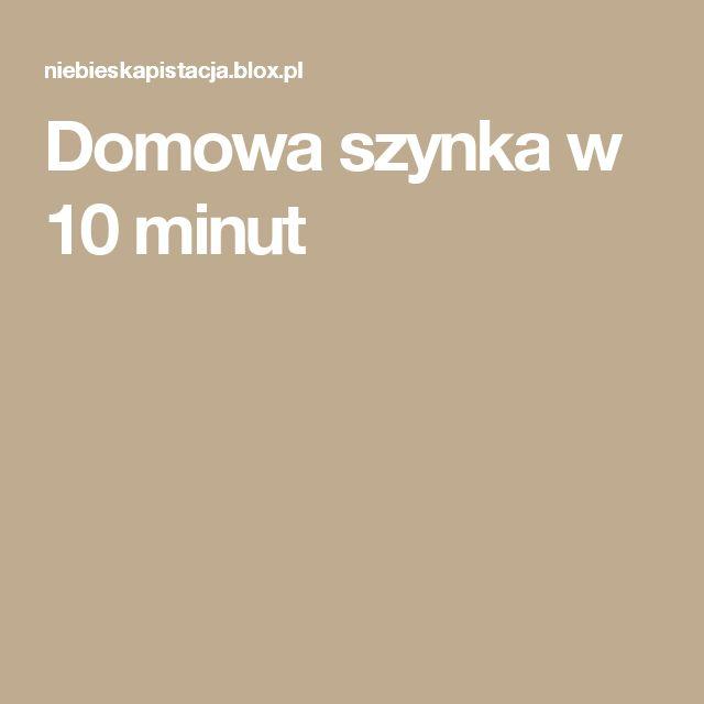Domowa szynka w 10 minut