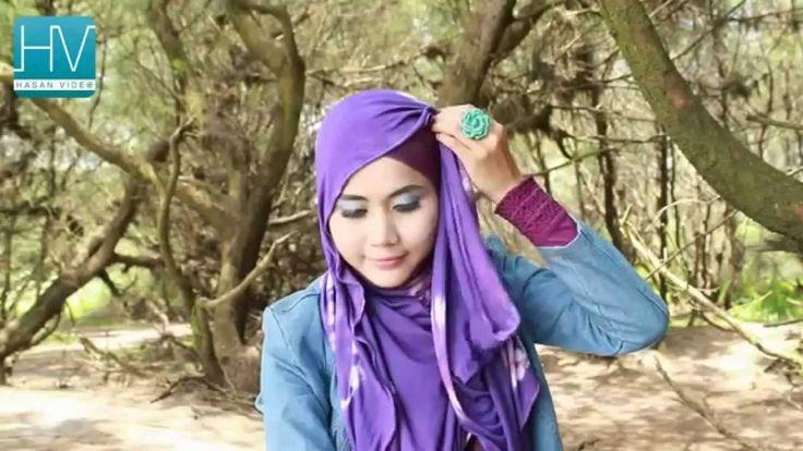 Tutorial Hijab Styles Tie Dye Pashmina Series Terbaru Bagian 1