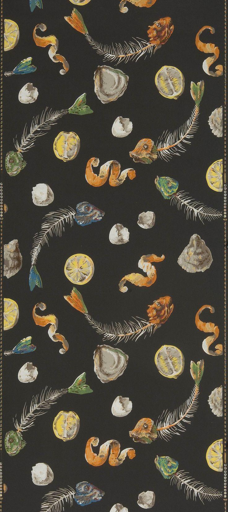 * Lendemain de fête 1948 papier peint - Leonor Fini et Jacques Hincelin pour les papiers peints SANITEX