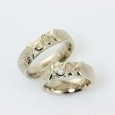 Billedresultat for forlovelsesring sølv med diamant i midten bartoli titan hjerte