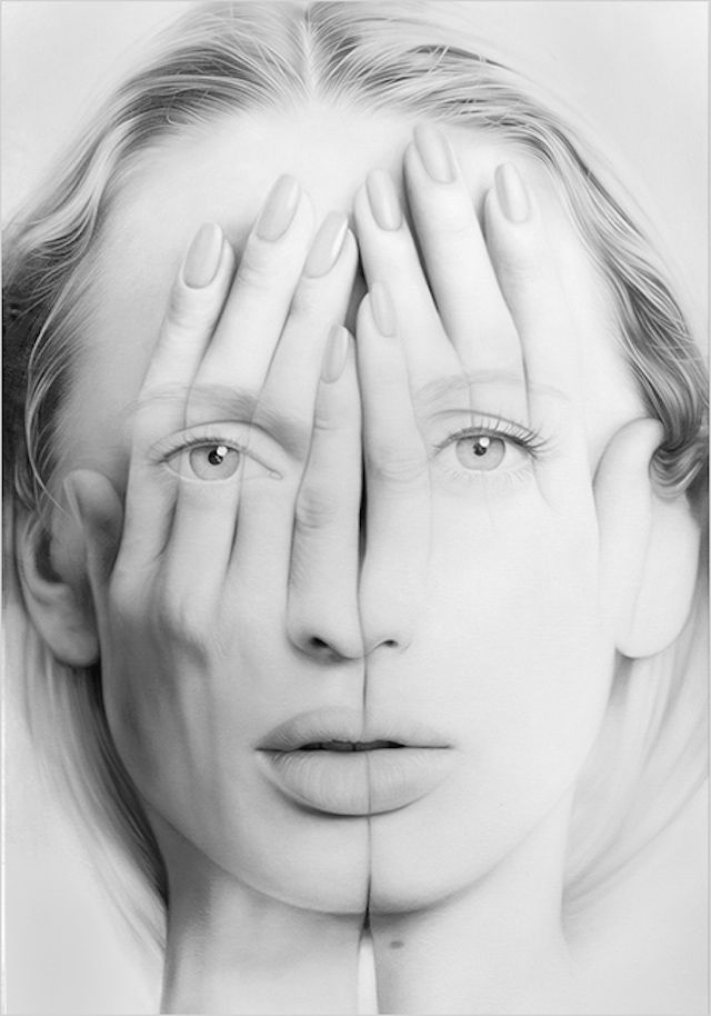 Double Exposure Paintings by Tigran Tsitoghdzyan | iGNANT.de Hungary-based artist István Orosz creates mesmerizing anamorphic works. He draws and paints images that often appear to have no meaning or distorted parts until you place a cylindrical mirror atop the artwork. Each of his works is simultaneously a study on physics and on how we perceive space. He uses various of algorithms to work them out, just like fellow artist Jonty Hurwitz.