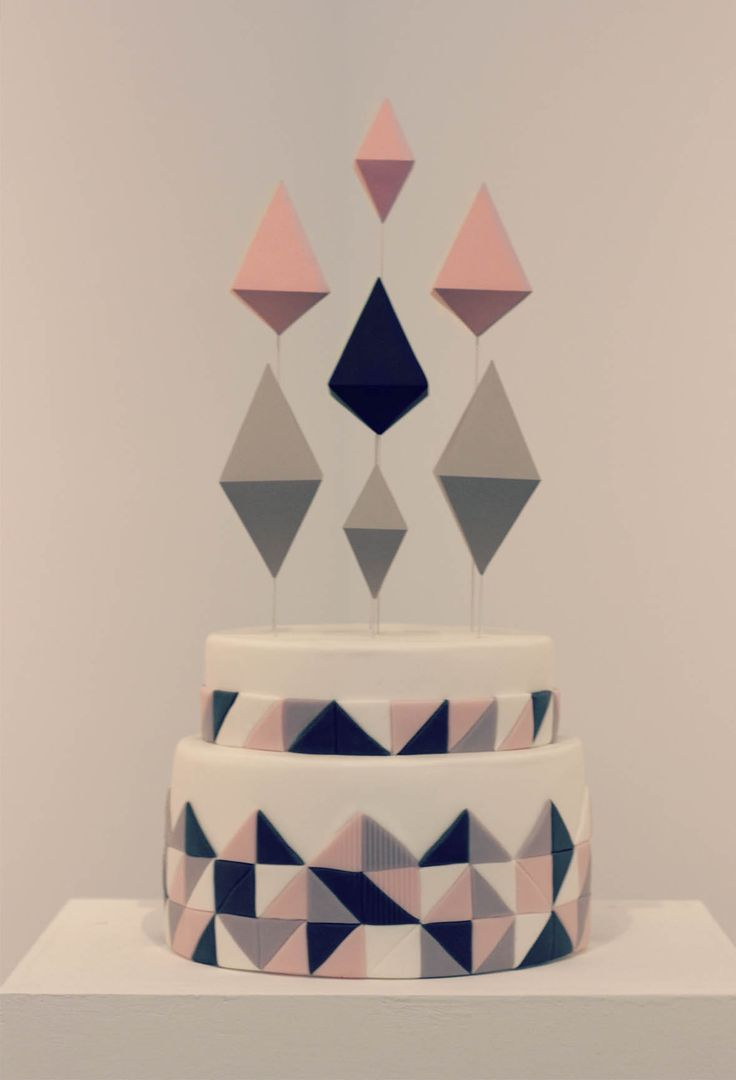 Geometric cake by Fonderia - For all your cake decorating supplies, please visit craftcompany.co.uk