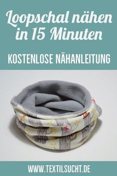 I'll show you how to make a simple loop scarf in 15 minutes …   – Nähen