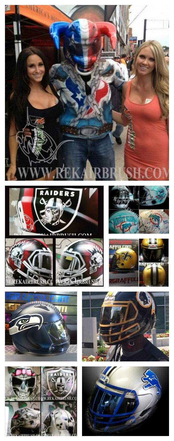 NFL Football Motorcycle Helmets