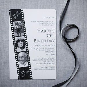 Film Strip 70th Birthday - can be made for any age                                                                                                                                                                                 More