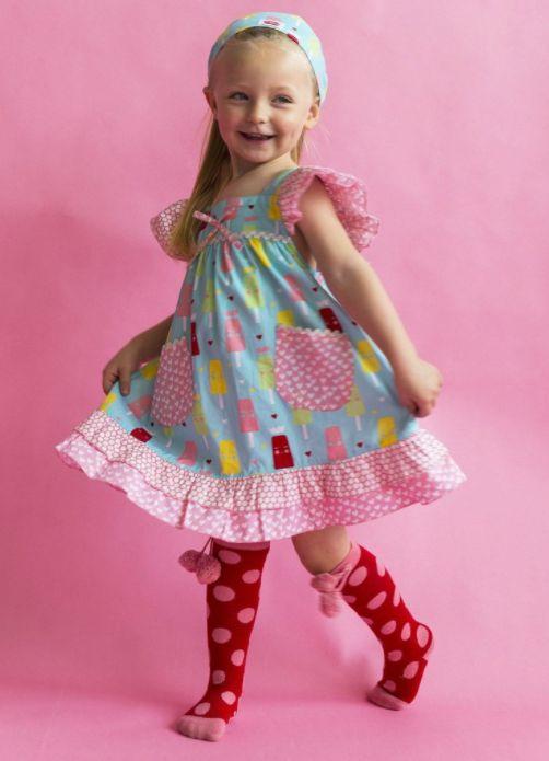 Holly Frosty Blue Princess Ice Cream Dress