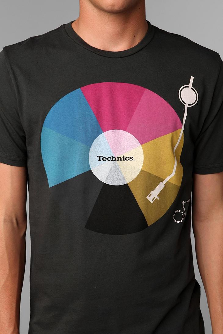 Black keys t shirt etsy - Technics Rainbow Vinyl Tee
