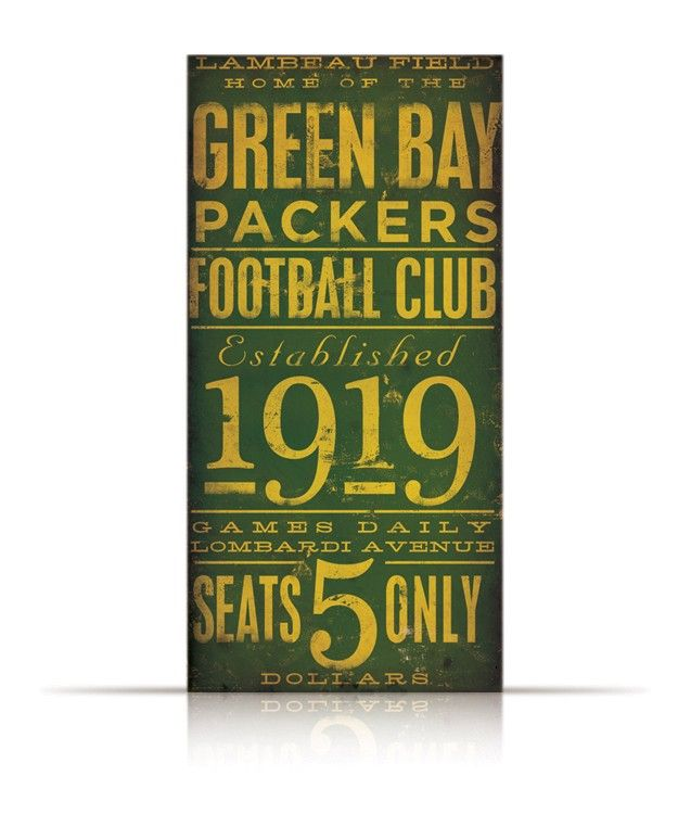 NEED FOR THE NEW HOUSE -   Green Bay Packers Football club typography by geministudio on Etsy, via Etsy.