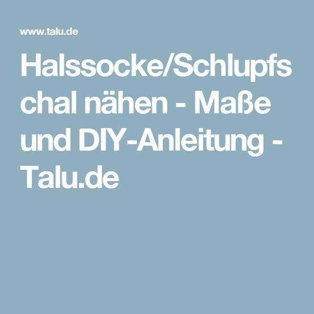 Halssocke/Schlupfschal nähen - Maße und DIY-Anleitung - Talu.de