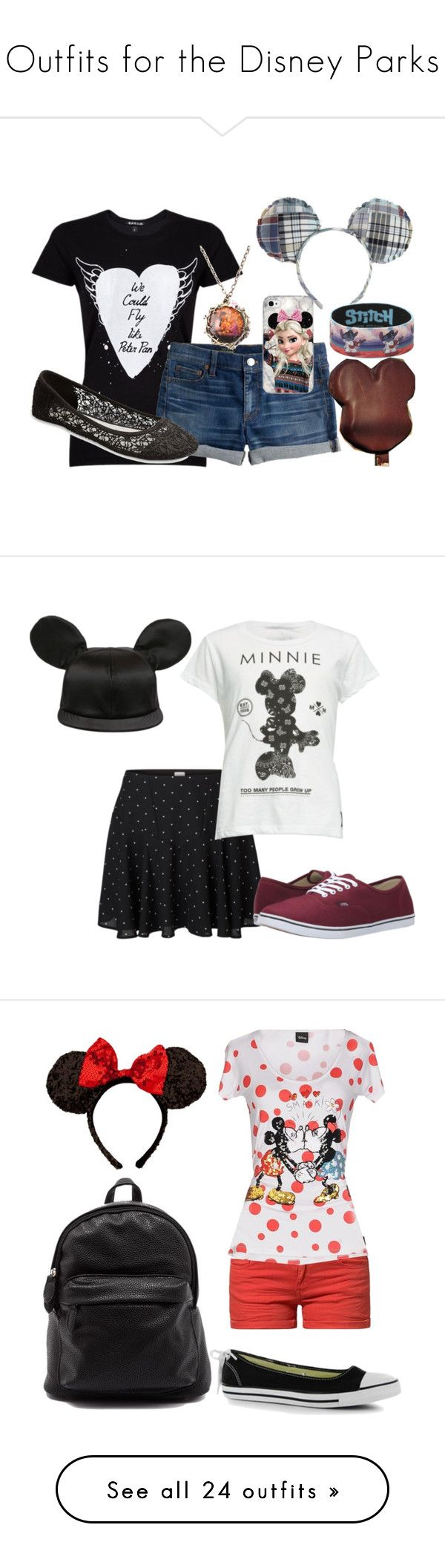 """Outfits for the Disney Parks"" by ivyskye ❤ liked on Polyvore featuring Black Score, J.Crew, Wet Seal, Disney, women's clothing, women's fashion, women, female, woman and misses"