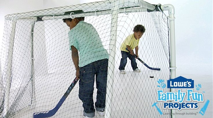 Build a hockey net for the kids using PVC pipe. We've got all the instructions and tips to make it a family activity.