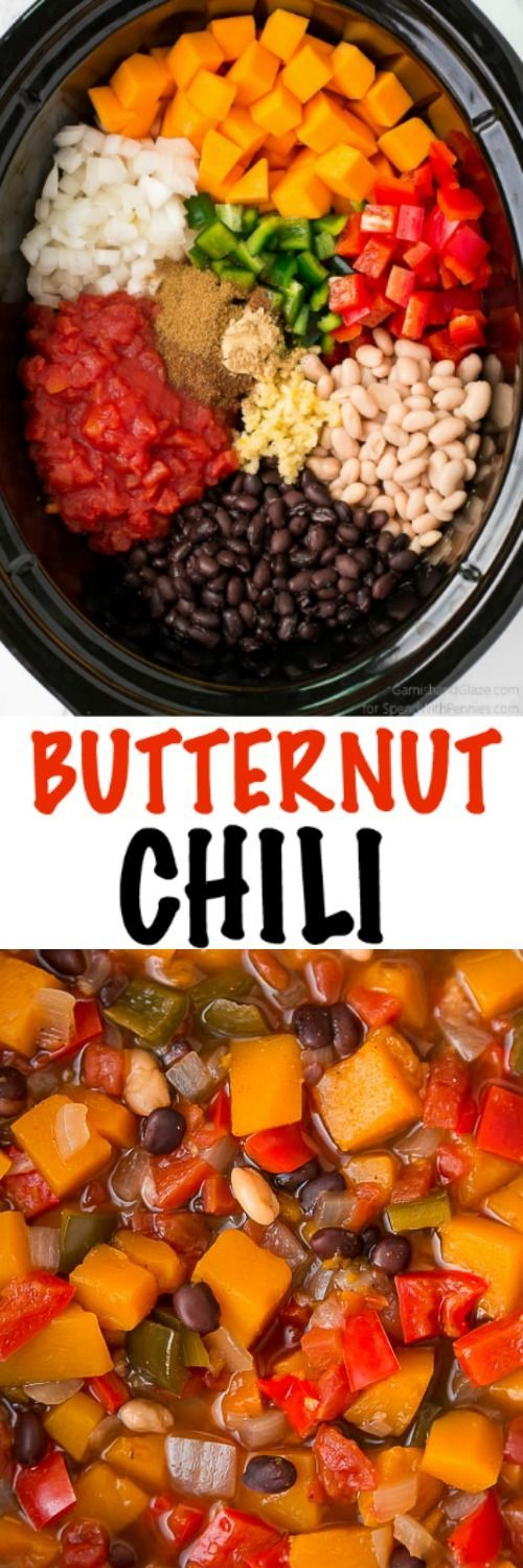 Butternut Squash Chili is the perfect fall meal. Let your slow cooker do the work this fall and enjoy this healthy, comforting, and sweet Butternut Squash Chili.