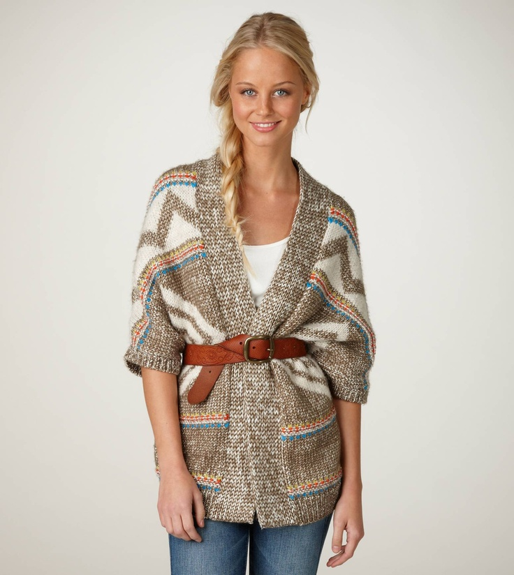 AE Open Patterned Cardigan: Cardigans, Ae Open, Cute Sweaters, Dress, Style Pinboard, Comfy, Open Patterned