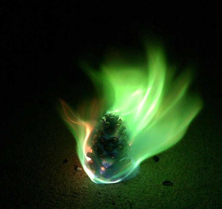 How to Make Pinecones burn with Colored Fire